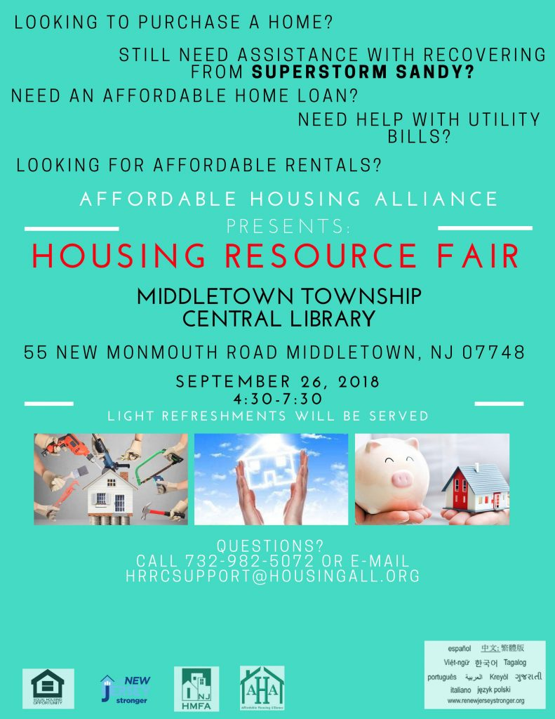 Housing Resource Fair at Middletown Township Library this