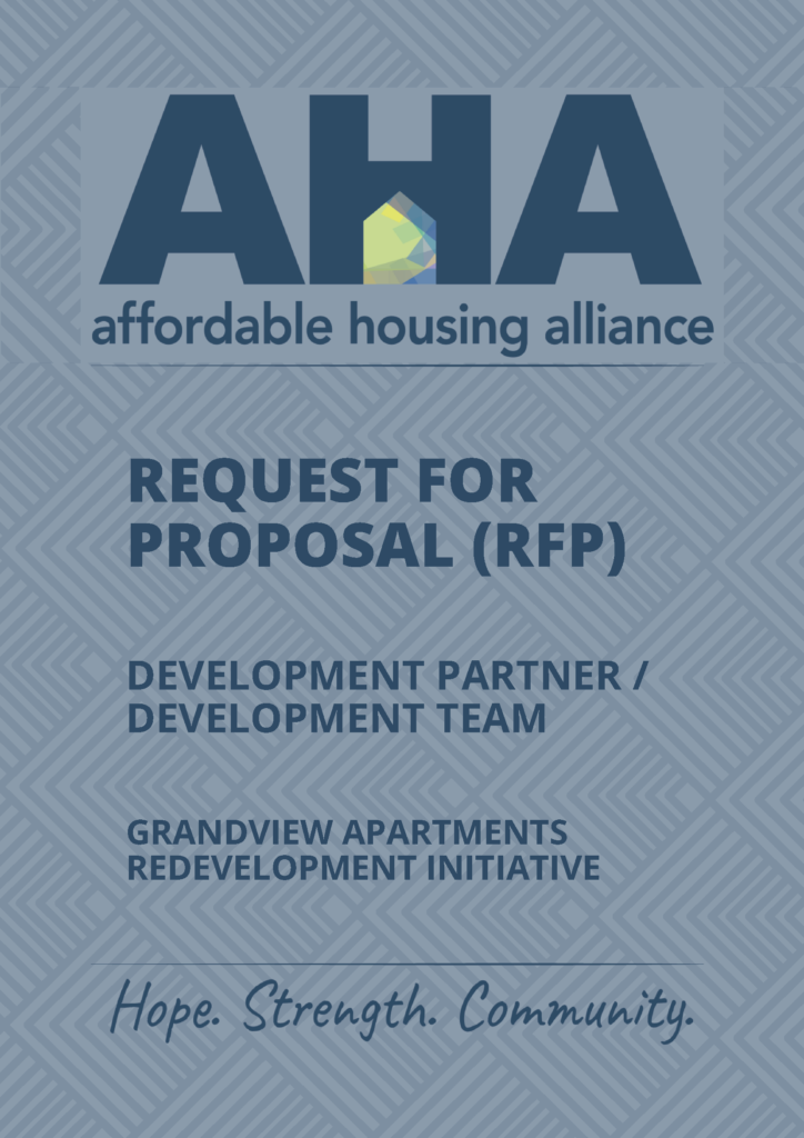 AHA - Request For Proposal-1 Cover